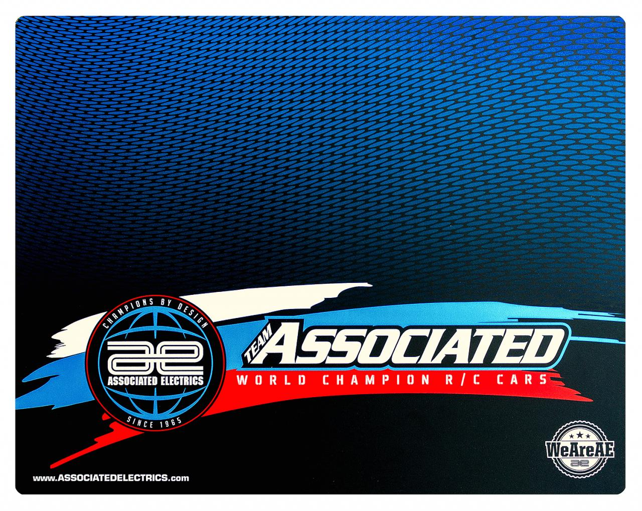 (Pictured: #SP437 Team Associated 2019 Worlds Countertop/Setup Mat.)