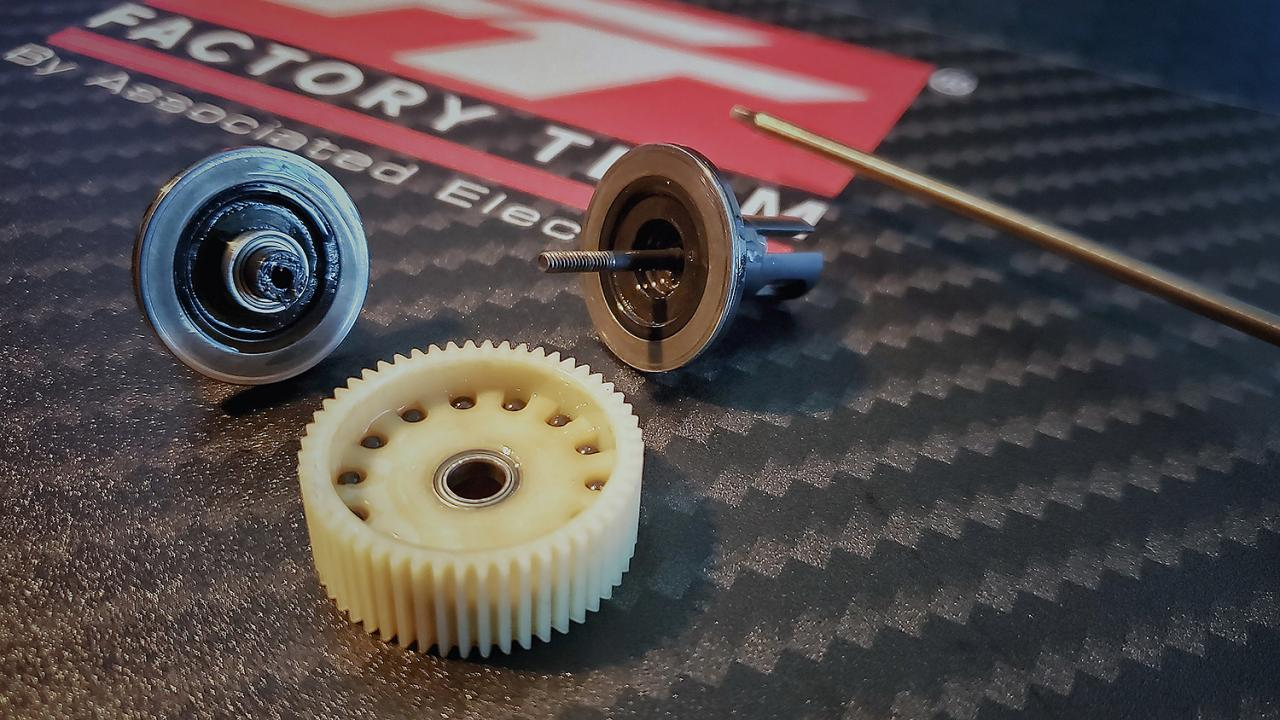 photo of #6576 FT Precision Ground Diff Drive Rings installed in 2.60:1 ball diff