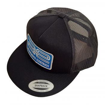 photo of #97007 AE Logo Trucker Hat, flat bill, black.