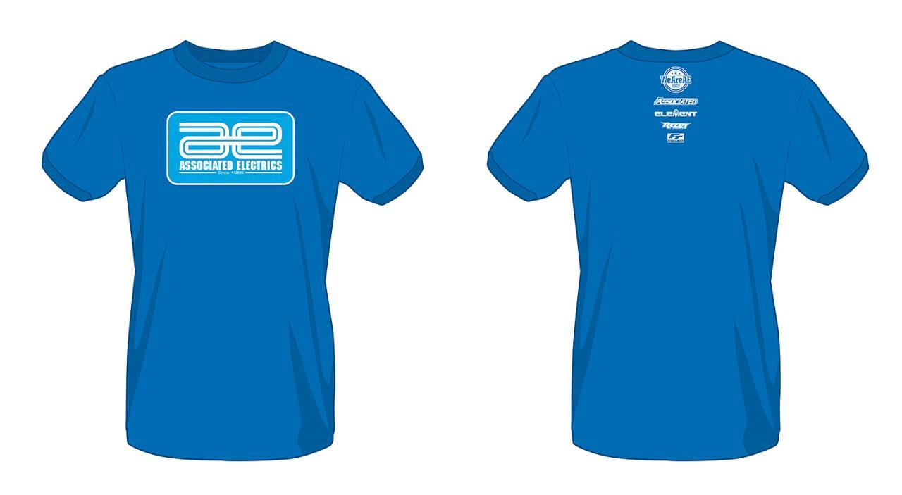 photo of Associated Electrics Logo T-Shirt, blue, artist's rendering