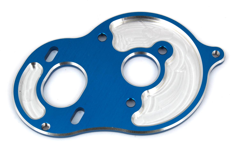 Associated 91794 B6.1 Standup Motor Plate blue aluminum RC10B6.1