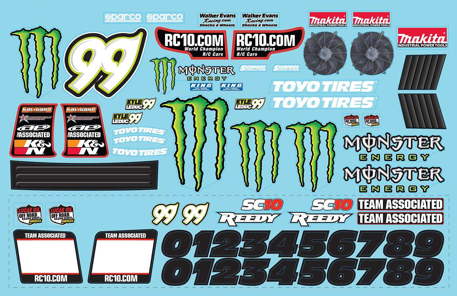 Sc10 Monster Energy Decal Associated Electrics
